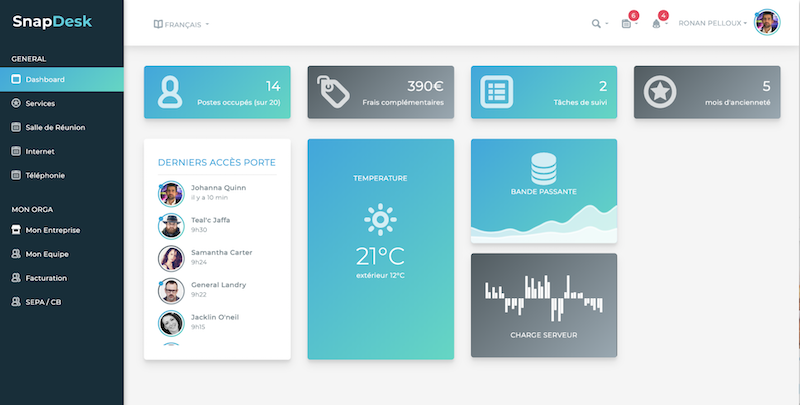 saas snapdesk office management